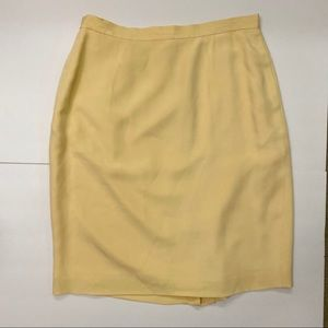 Vintage Yellow Skirt, 100% silk with pockets